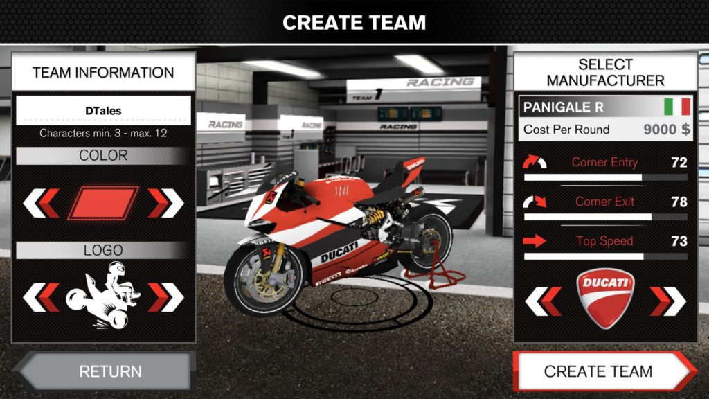 SBK TEAM MANAGER - Iphone