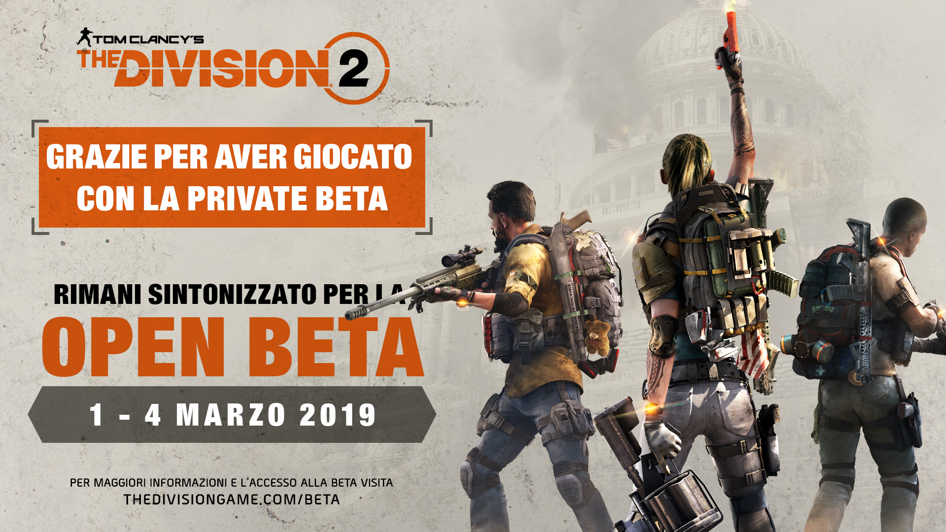 Open Beta di Tom Clancy's The Division 2