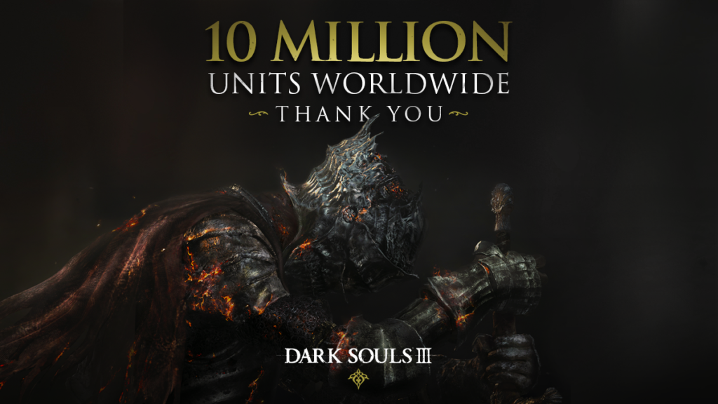 DARK SOULS III, 10 milioni di copie vendute in tutto il mondo